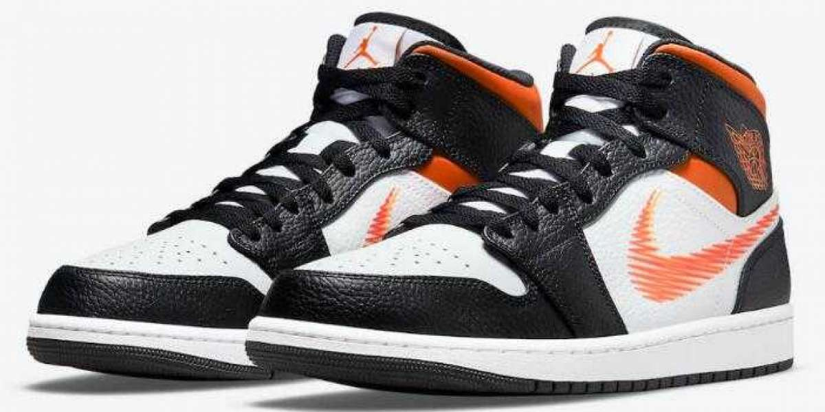 Latest Air Jordan 1 Mid Dropping With Zig-Zag Swooshes