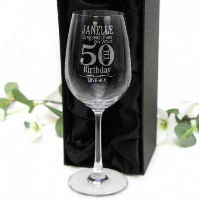 Engraved 350ml Birthday Wine Glasses Profile Picture