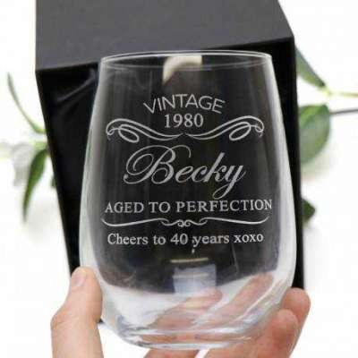 Engraved Birthday Stemless Wine Glass 500ml Profile Picture